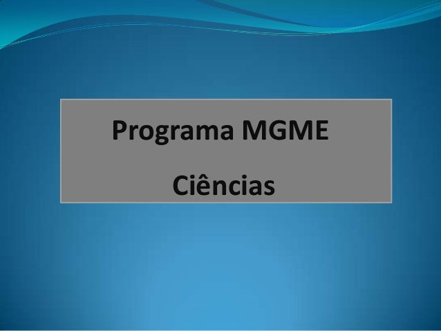 Programa MGME Ciências