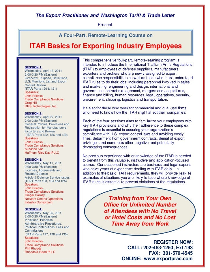 The Export Practitioner and Washington Tariff & Trade Letter                                             Present          ...