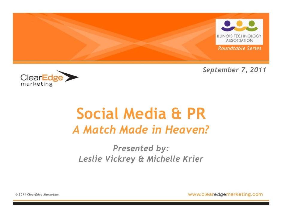 Social Media & PR: A Match Made in Heaven?