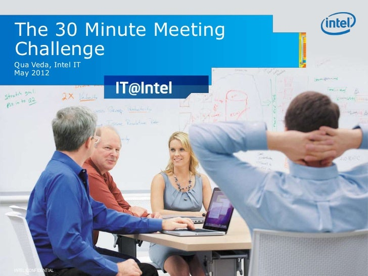 The 30 Minute MeetingChallengeQua Veda, Intel ITMay 2012INTEL CONFIDENTIAL