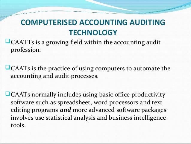 Assess the relationship between computer and accounting/auditing profession?