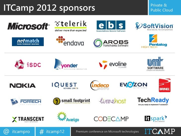 ITCamp 2012 sponsors                                                       Private &                                      ...