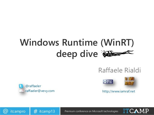 ITCamp 2013 - Raffaele Rialdi - Windows Runtime (WinRT) deep dive