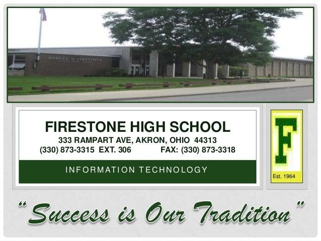 FIRESTONE HIGH SCHOOL     333 RAMPART AVE, AKRON, OHIO 44313(330) 873-3315 EXT. 306   FAX: (330) 873-3318     I N F O R M ...