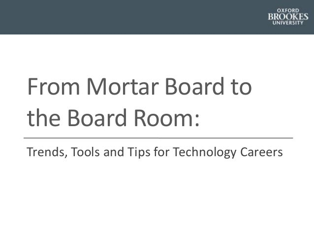 Trends, Tools and Tips for Technology Careers