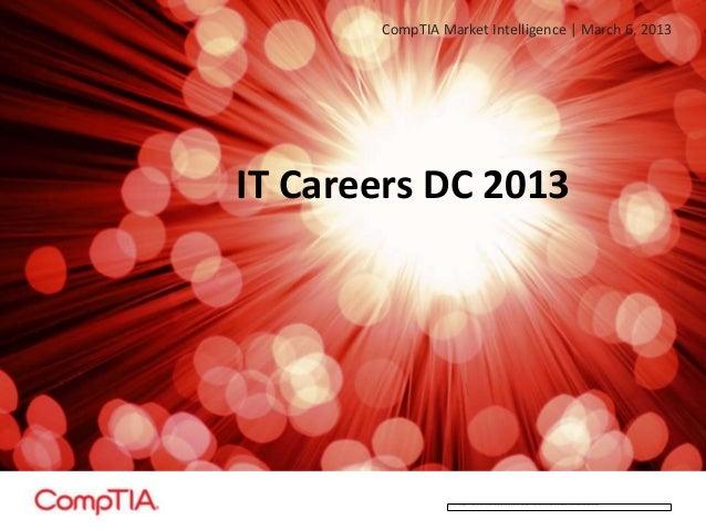IT Careers - Washington, DC: 2013