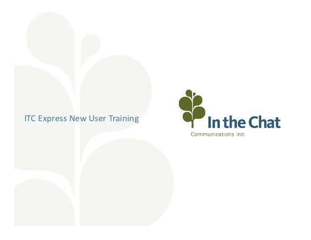Getting Started With ITC Express