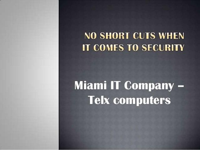 IT company services Miami - Telxcomputers