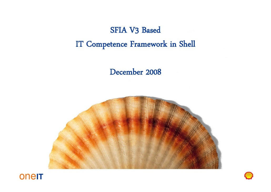 SFIA V3 Based         IT Competence Framework in Shell                   December 2008     oneIT