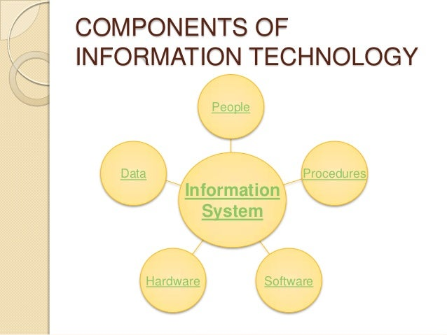 Information Technology System : Chapter it components