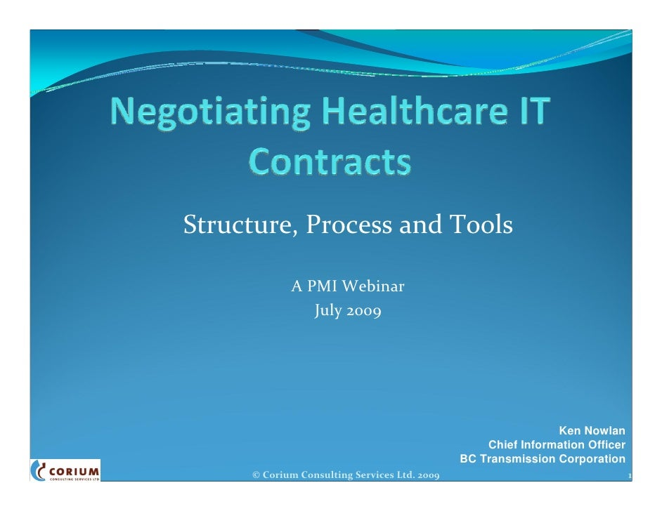 Outsourcing Contract Negotiations - Structure, Process & Tools