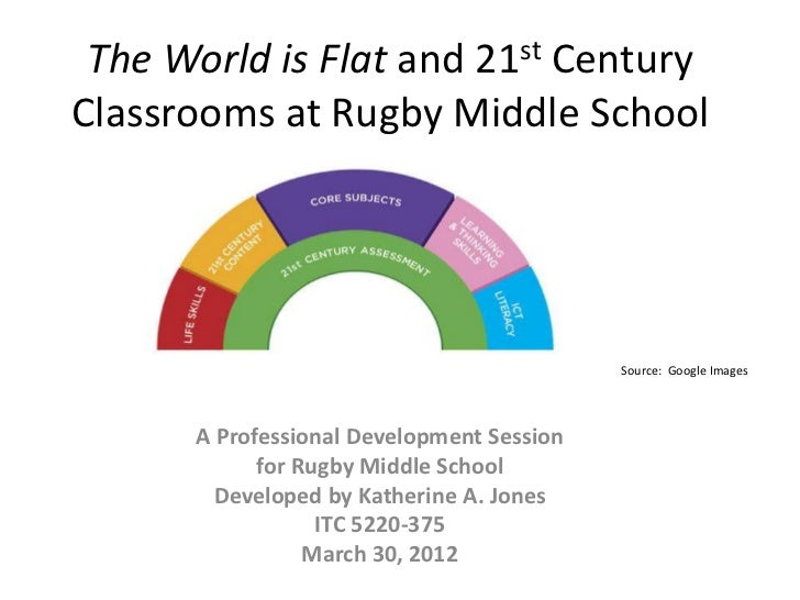 The World is Flat and 21st CenturyClassrooms at Rugby Middle School                                           Source: Goog...