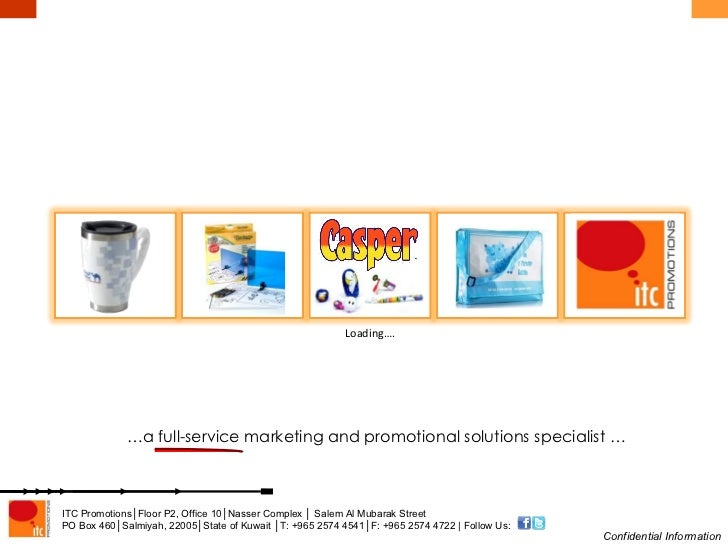 Loading…. … a full-service marketing and promotional solutions specialist …