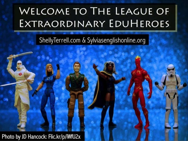 THE LEAGUE OF  EXTRAORDINARY EDUH EROES iT'DijpRm  She| |yTerrel| .com & Sy| viaseng| ishon| ine. org {,  .A 3  Photo by J...