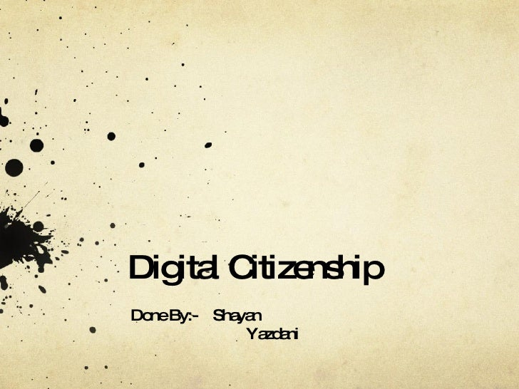 IT Digital Citizenship