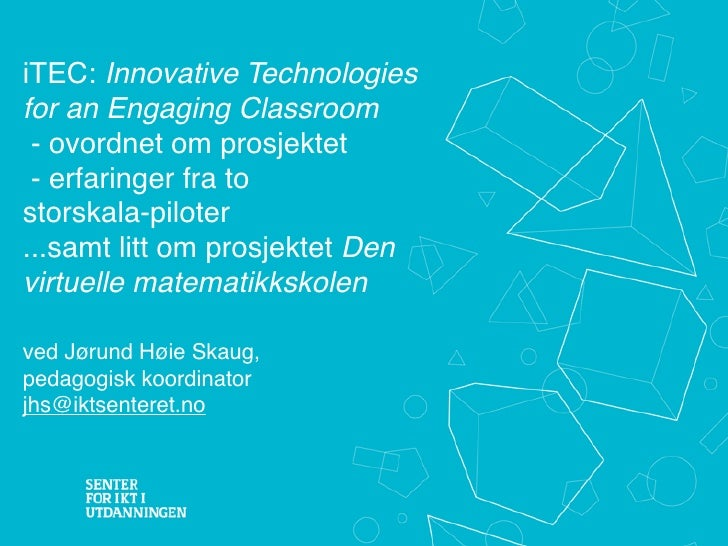 Itec + Den_virtuelle matteskolen Skien