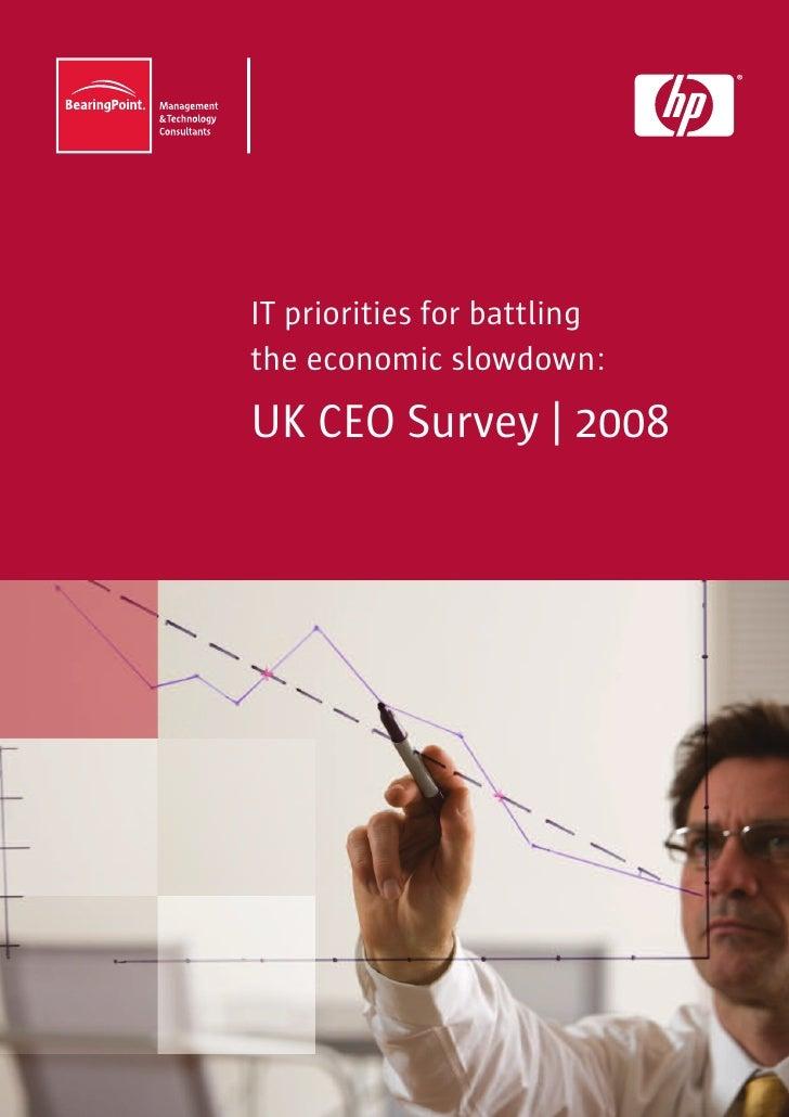 IT priorities for battling the economic slowdown: UK CEO Survey | 2008
