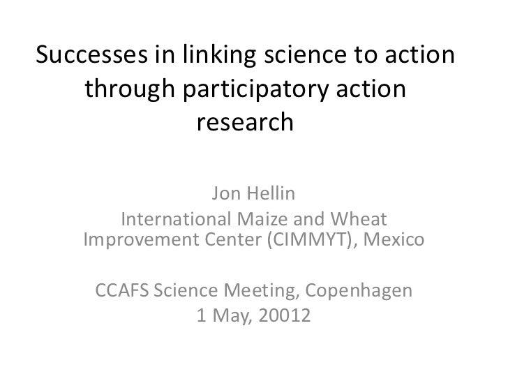 CCAFS Science Meeting Item 08 Jon Hellin PAR