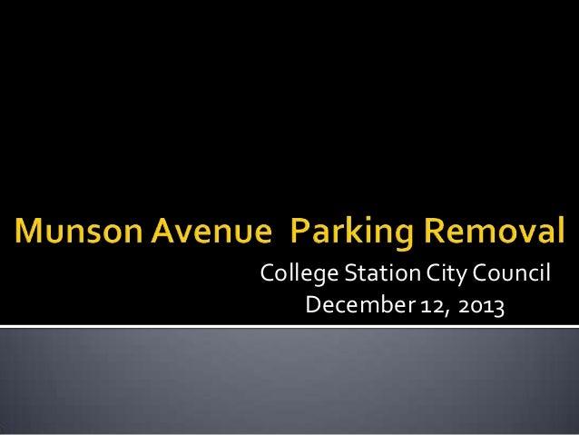 Munson Avenue Parking Removal