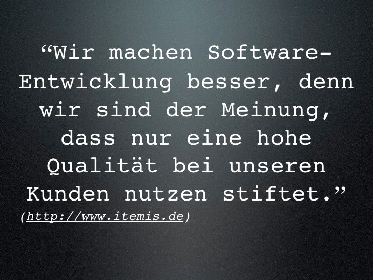Bessere Softwareentwicklung (Itemis Wintercon)