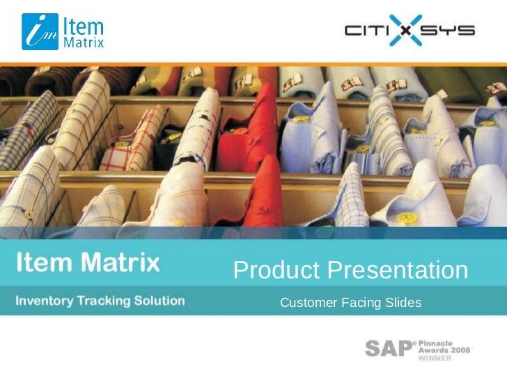 Customer Facing Slides Product Presentation Product Presentation Customer Facing Slides