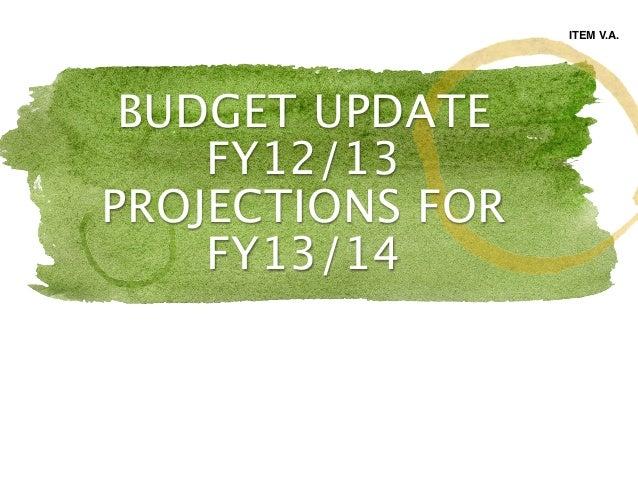Item va budget presentation