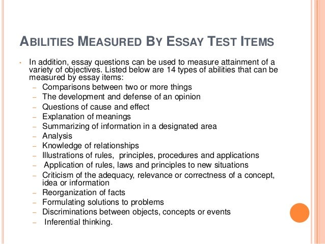 order of arguments in an essay