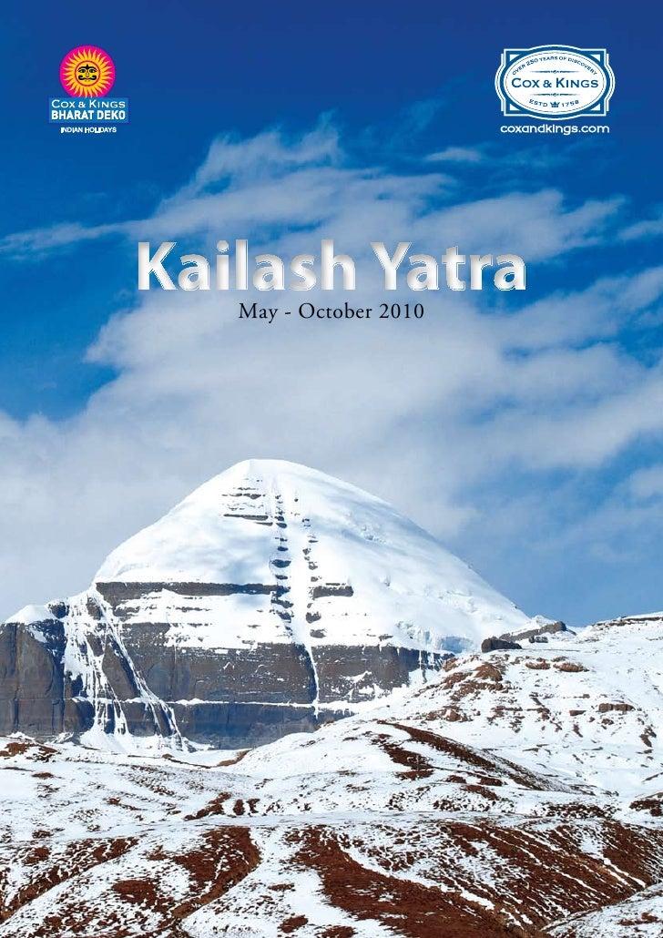 Kailash Yatra    May - October 2010