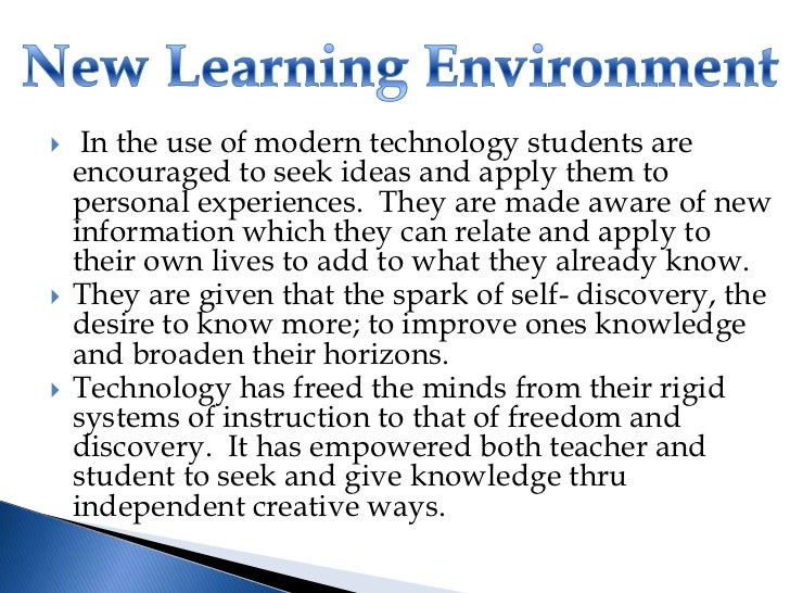 it in the new learning environment Discusses the importance of the group environment on a child's learning and development.