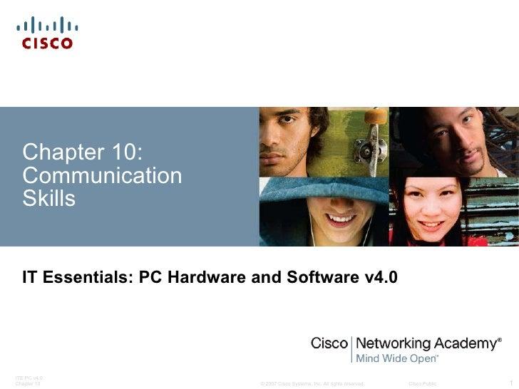 IT Essentials Chapter 10