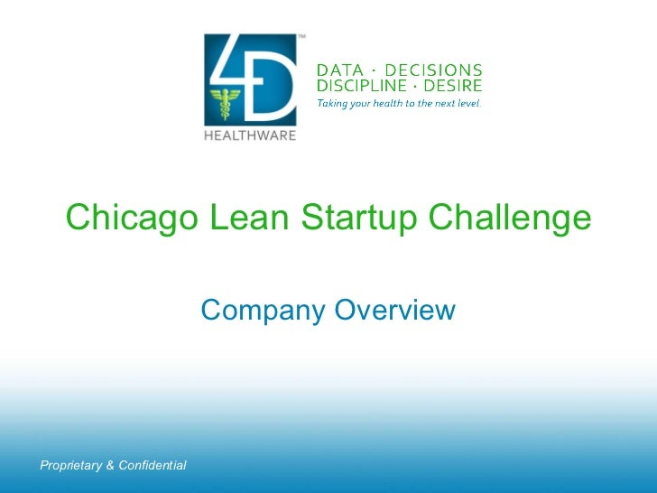Chicago Lean Startup Challenge Company Overview Proprietary & Confidential