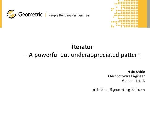 Iterator - a powerful but underappreciated design pattern