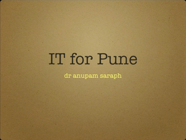 IT for pune