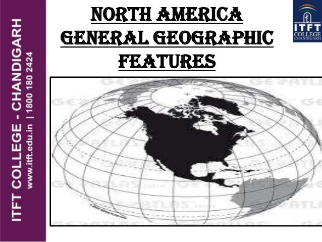 North America general geographic features
