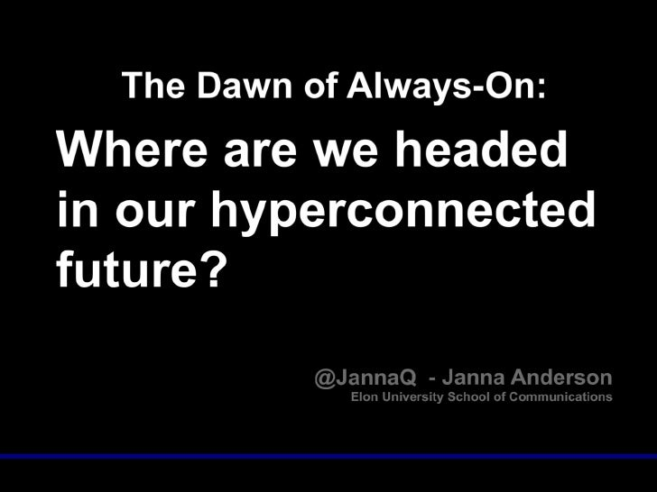 Imagining the Internet mobililty shifts keynote