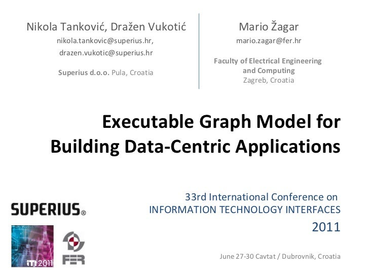 Executable Graph Model for Building Data-Centric Applications 33rd  International  Conference on  INFORMATION TECHNOLOGY I...