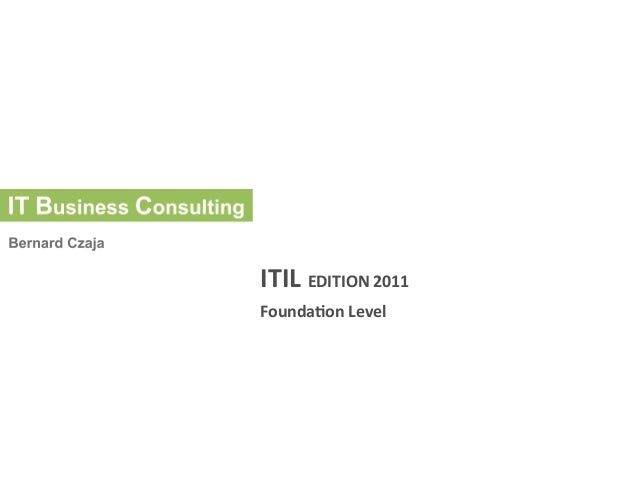 ITIL Edition 2011 Foundation Level
