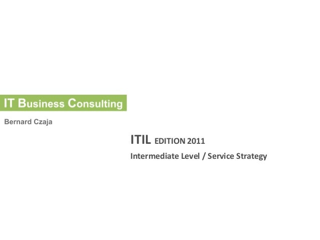 ITIL Edition 2011 Service Strategy