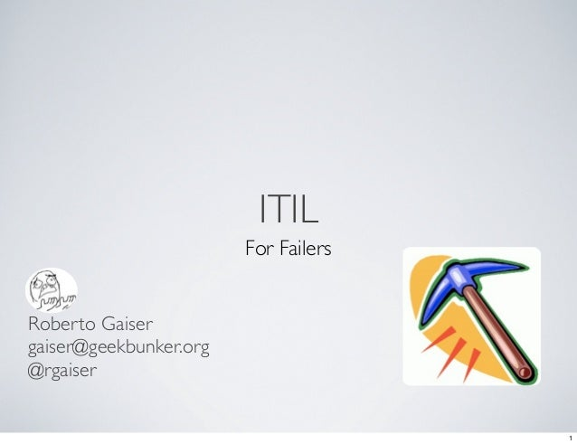 Itil for failers
