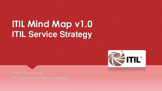 ITIL Mind Map v1.0 ITIL Service Strategy  Author: Danny Wong http://www.linkedin.com/in/chinwhei