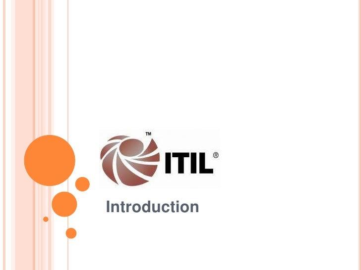 ITIL V3 introduction