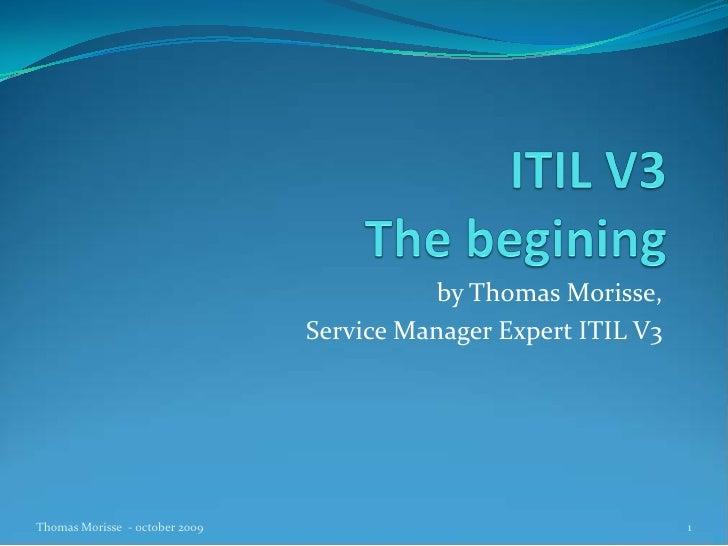 Itil V3 The Begining