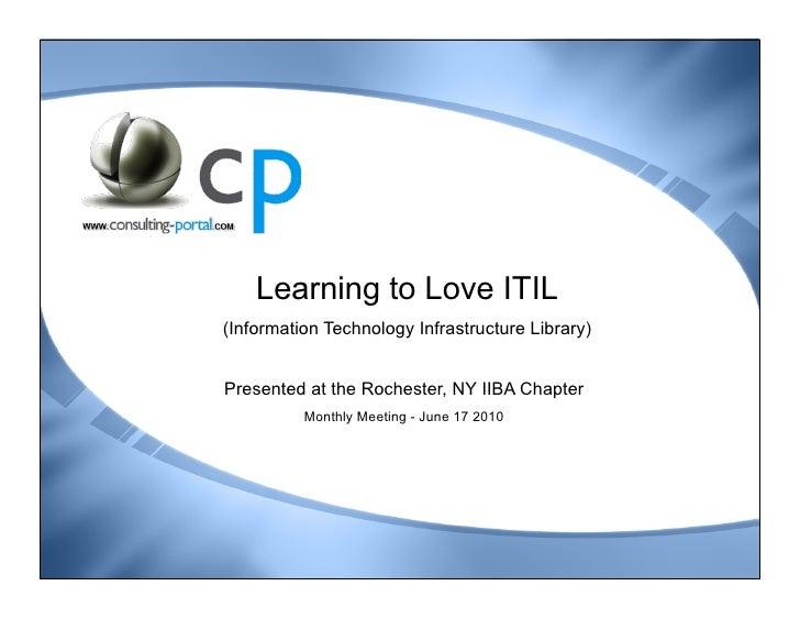ITIL v3 Awareness - Jun 2010