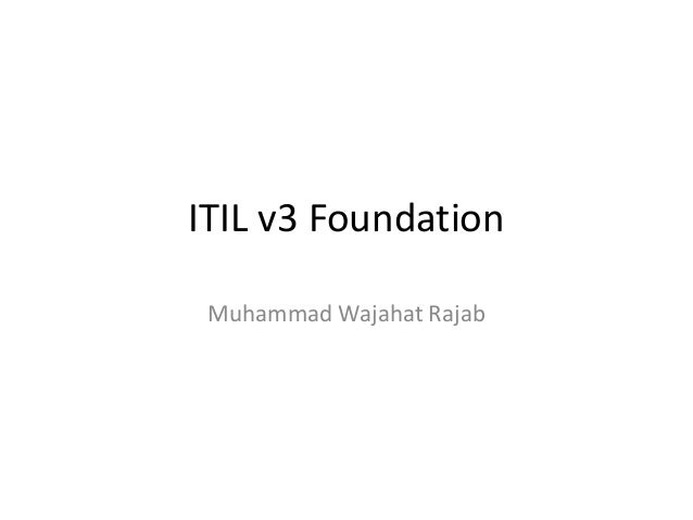 Exame itil v3 foundation