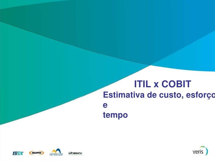 ITIL x COBIT<br />Um breve comparativo<br />