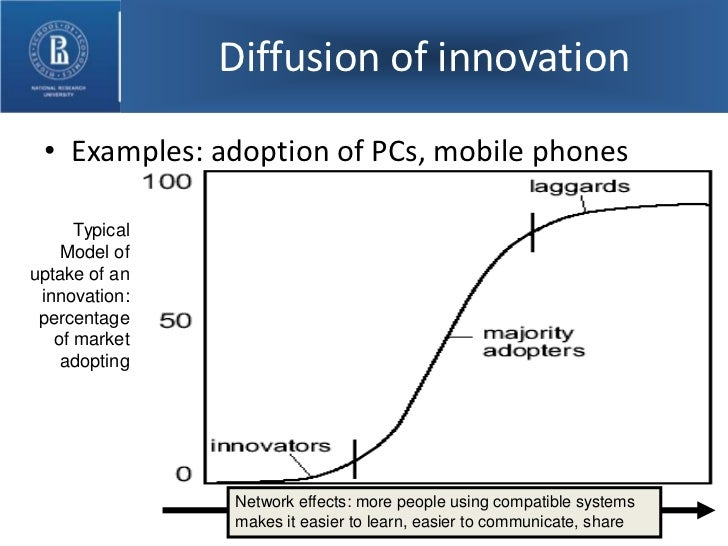 diffusion of innovation Diffusion of innovations, by everett rogers (1995) for homophilous systems, however, encouraging the diffusion of an innovation is a far more difficult business.