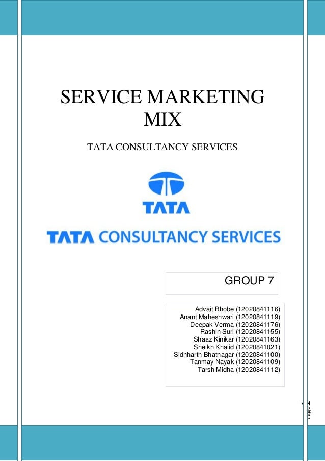 It industry tcs group 7_ssm assignment