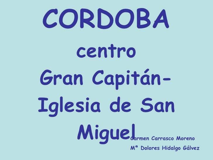 Itinerario por el centro de Córdoba P. Comenius