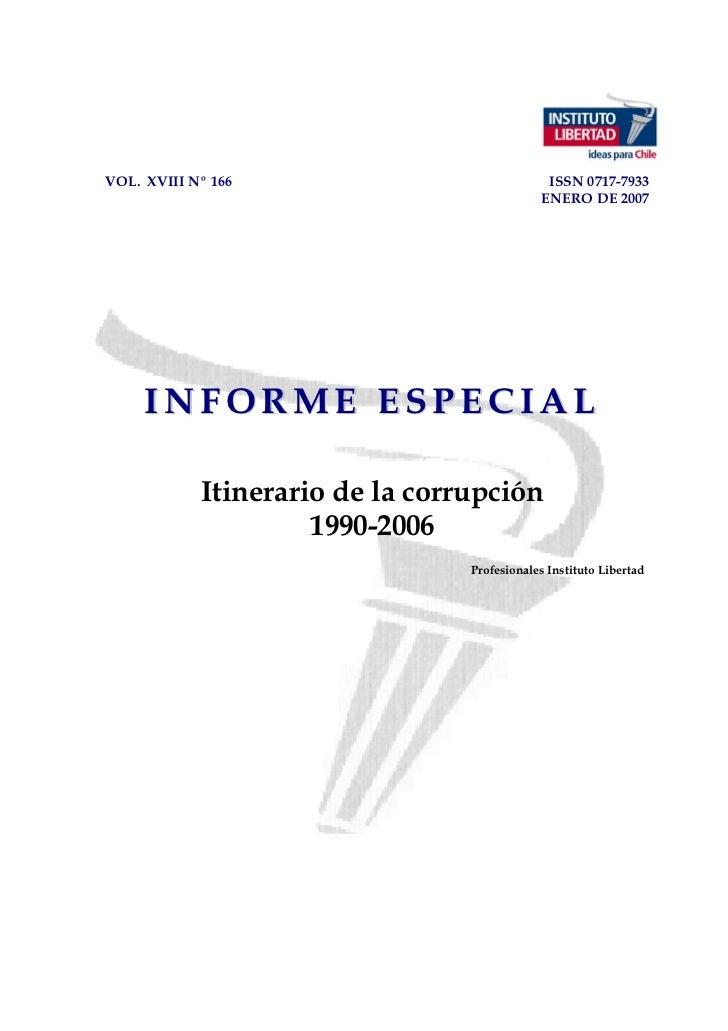 VOL. XVIII Nº 166                              ISSN 0717-7933                                              ENERO DE 2007  ...