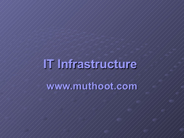 IT Infrastructure   www.muthoot.com